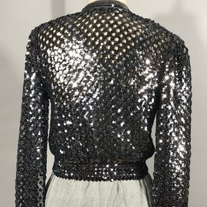 e65bf121 Harry Acton for Party Collectibles Jackets & Coats - Silver Sequin Party  Jacket